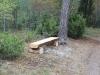 Stock bänk, 5 st. är placerade på åsen.