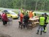 31 augusti röjningsdag, många regnskurar på fm, men uppehåll vid lunch. Maggan och Kerstin grillar korv mm. till jobbar gänget