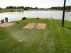 Färdig gräs matta, nu ska det på mycket vatten