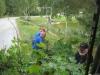 Matts, Roffe och Per lasstar på busksly