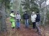 Möte i området före start, fr.v Per Brundell Entreperör, Sören Eriksson markägare, Mats Enström HHF, Jan Dahlin HHF, Ellen Samuelsson Skogsstyrelsen.